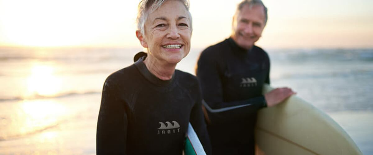 older couple surfing