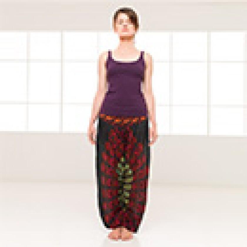 woman standing straight