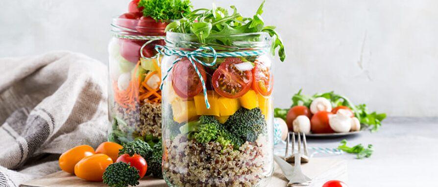 clean eating mason jar meals