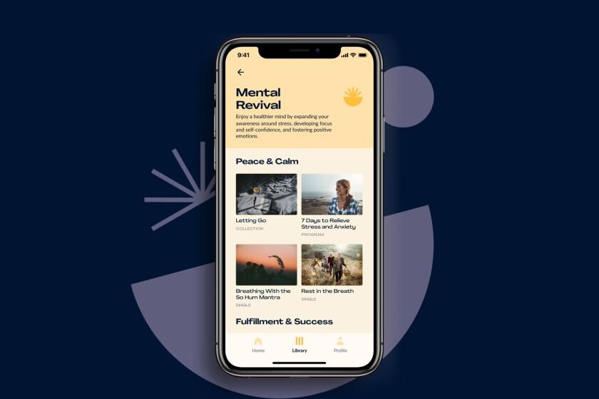Home screen of the new Chopra app