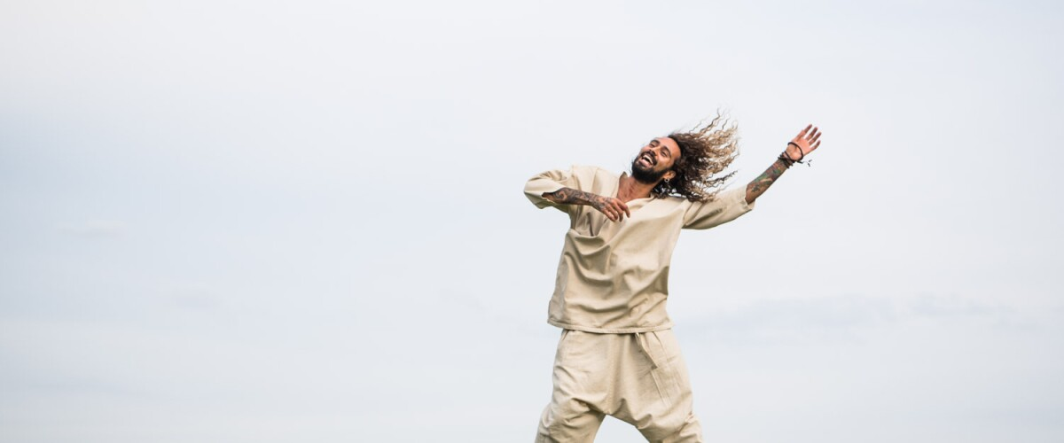 Sah D'Simone dancing outdoors