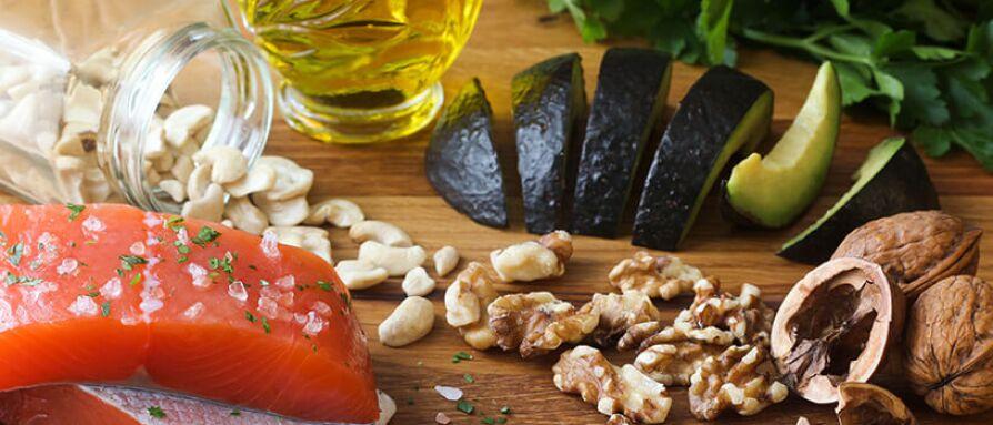 avocado, fish, whole grains, nuts
