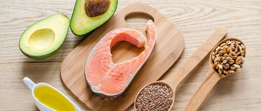 salmon avocado nuts olive oil