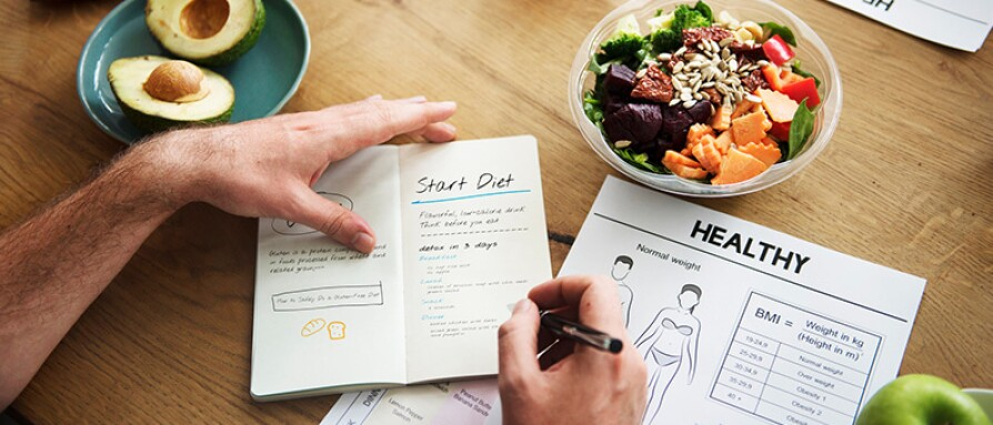 writing in diet book
