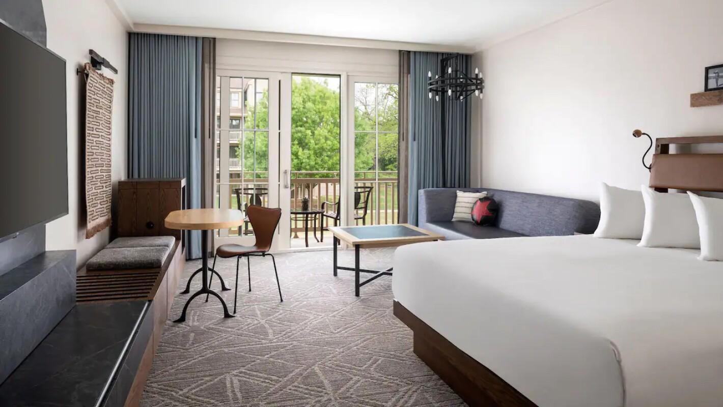 A beautiful room at the Hyatt Regency Lost Pines Resort & Spa