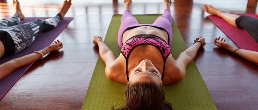savasana in yoga class