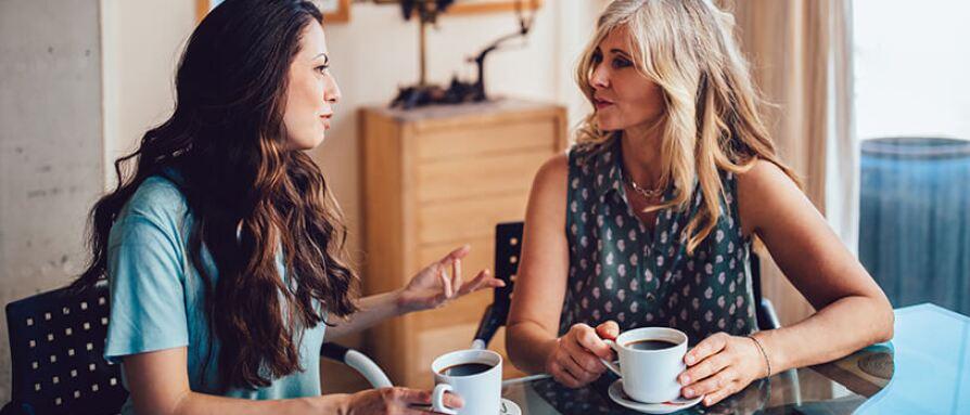 woman talking