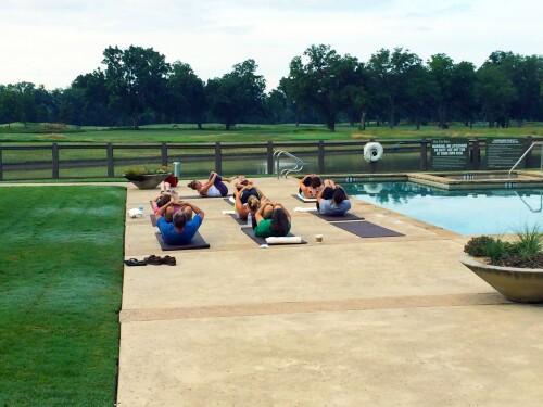 Group yoga at Silent Awakenings retreat