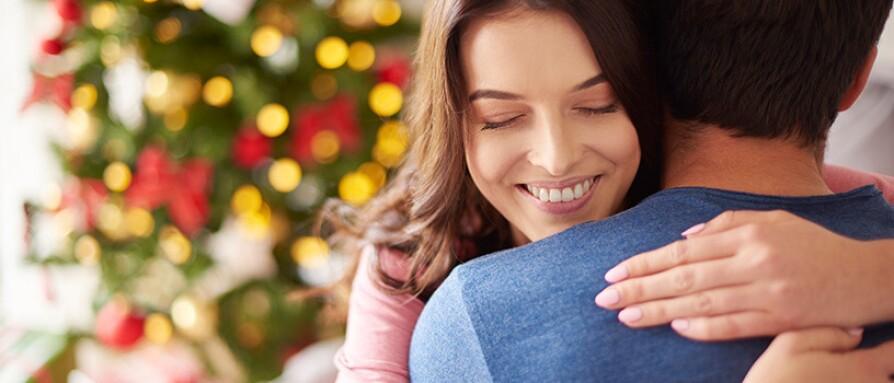 woman giving a hug