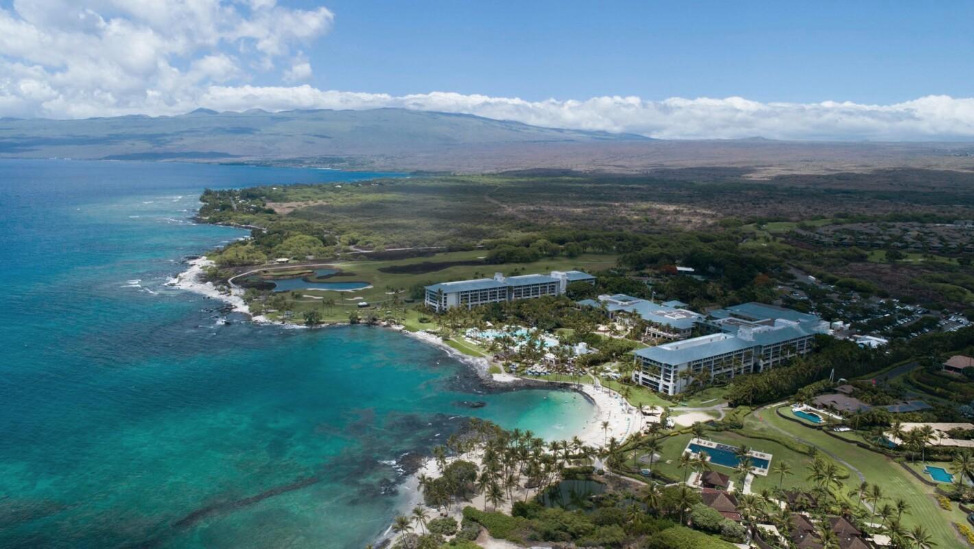 Aerial view of Wailea Beach Resort in Maui, Hawaii