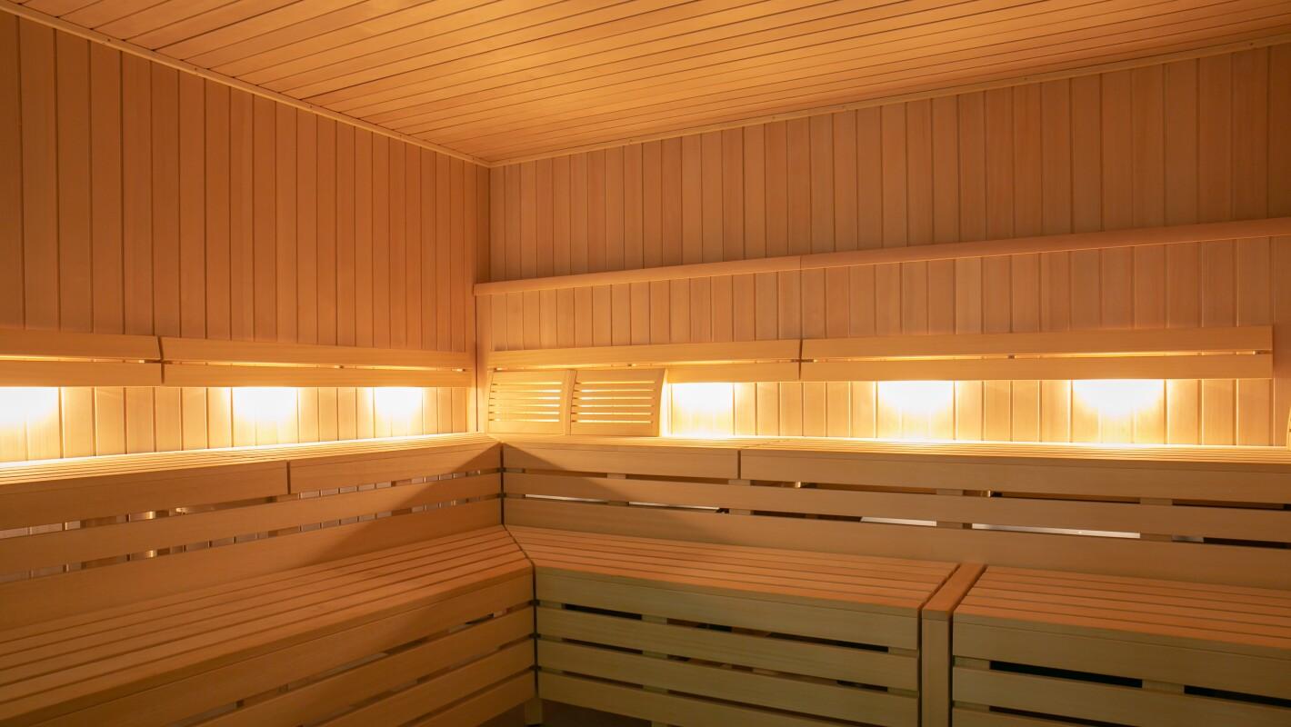 Modern hot dry sauna