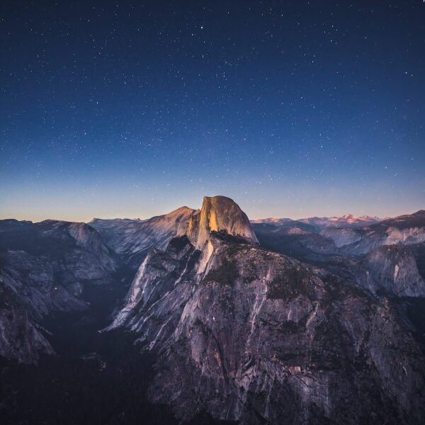 Aerial view of El Capitan, Yosemite, CA