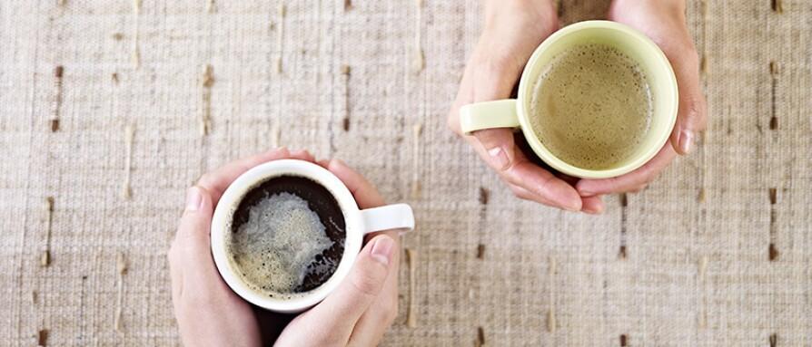 friends sharing coffee