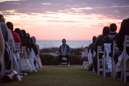 Roger Gabriel leading a meditation retreat