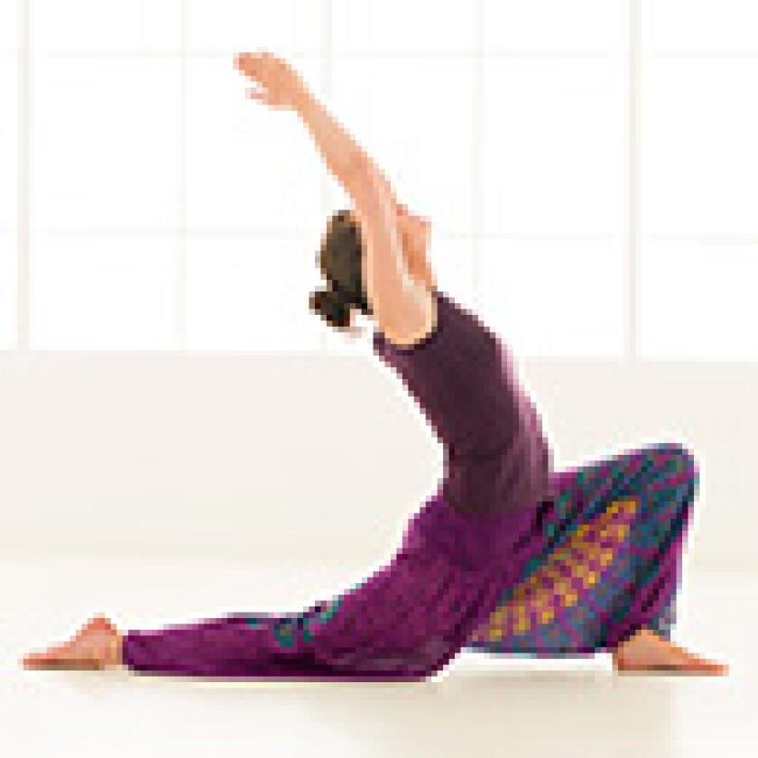 woman half back fold on one leg