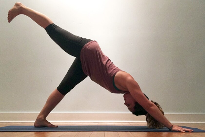 3 legged downward facing dog with square hip