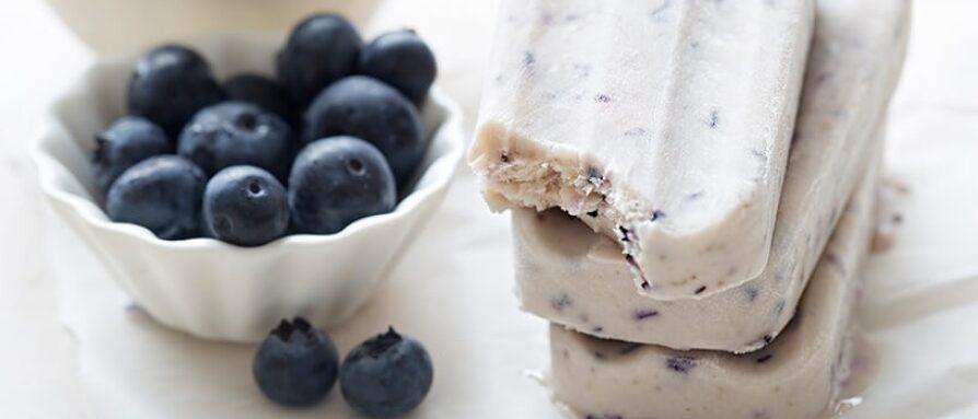 blue berry yogurt ice cream bars