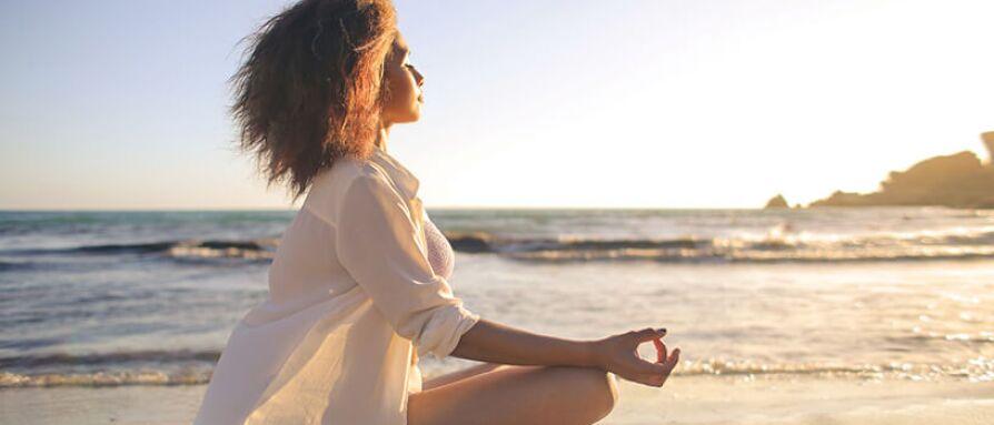 meditating in the sun