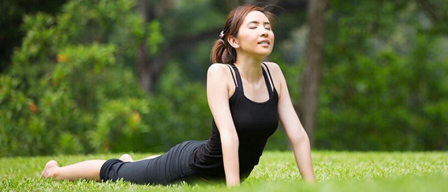 woman doing yoga samadhi