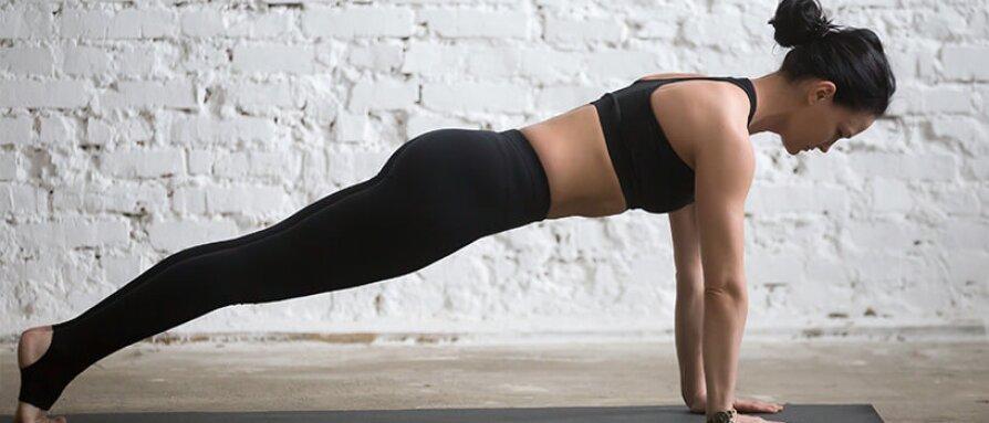 woman doing a high plank