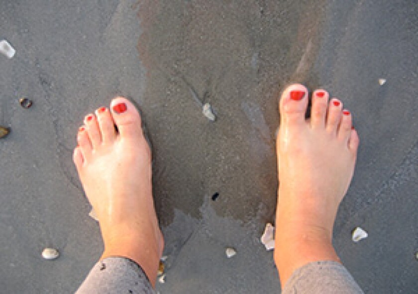 womans feet