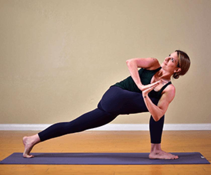 Revolved Prayer Lunge Yoga Pose
