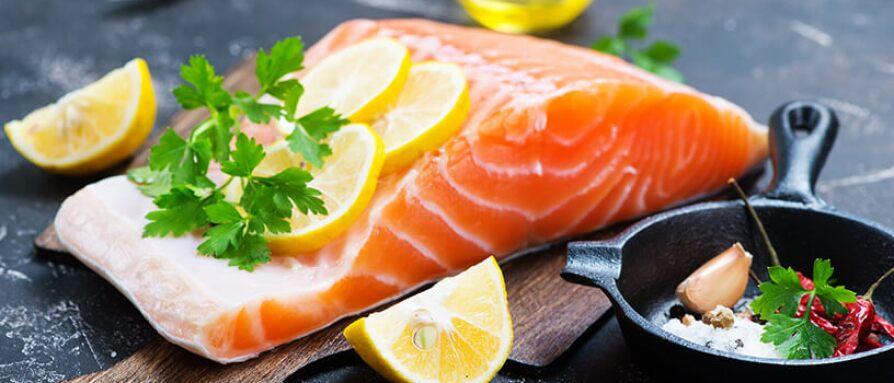 fresh salmon, raw salmon