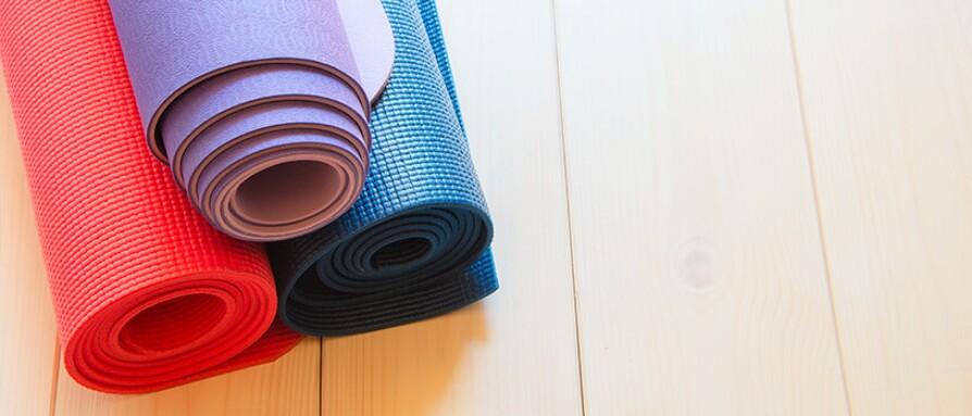different yoga mats