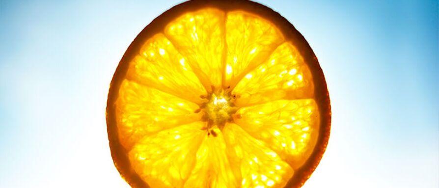An orange slice