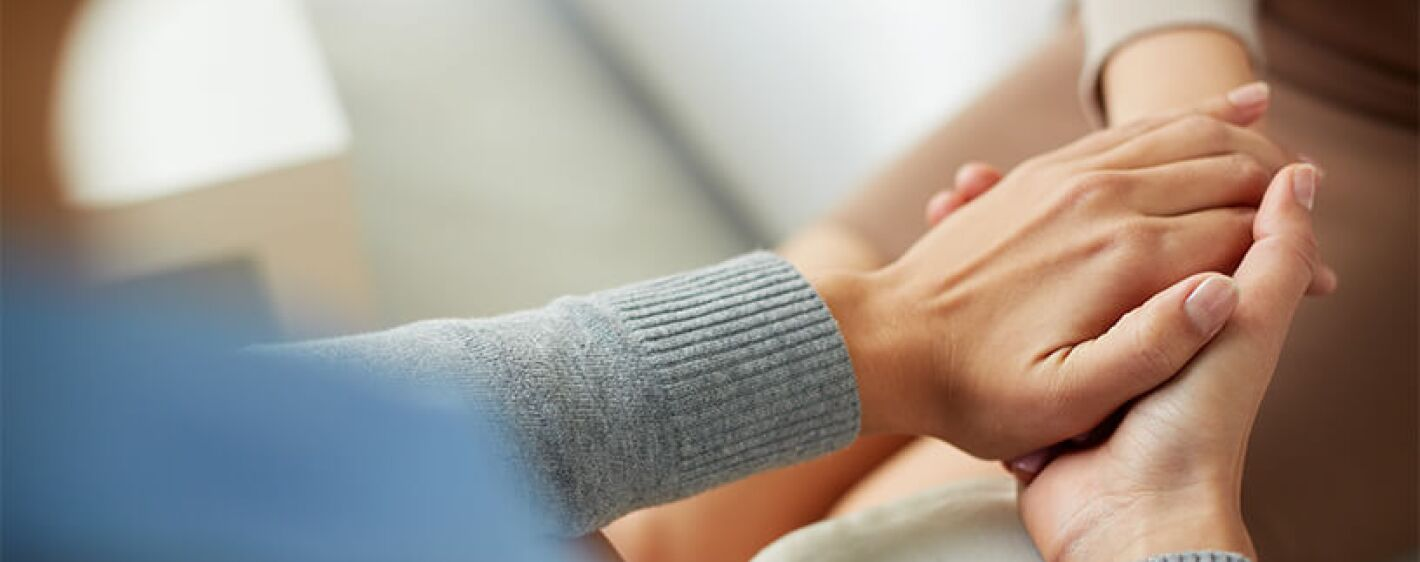 Holding hands with compassion