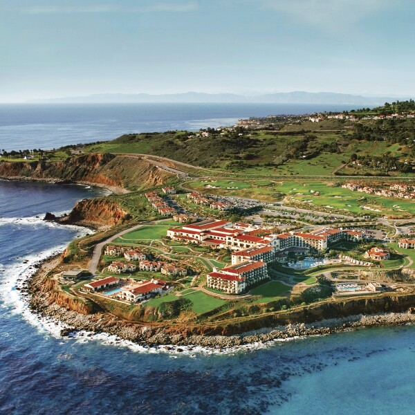 An areal view of Terranea resort
