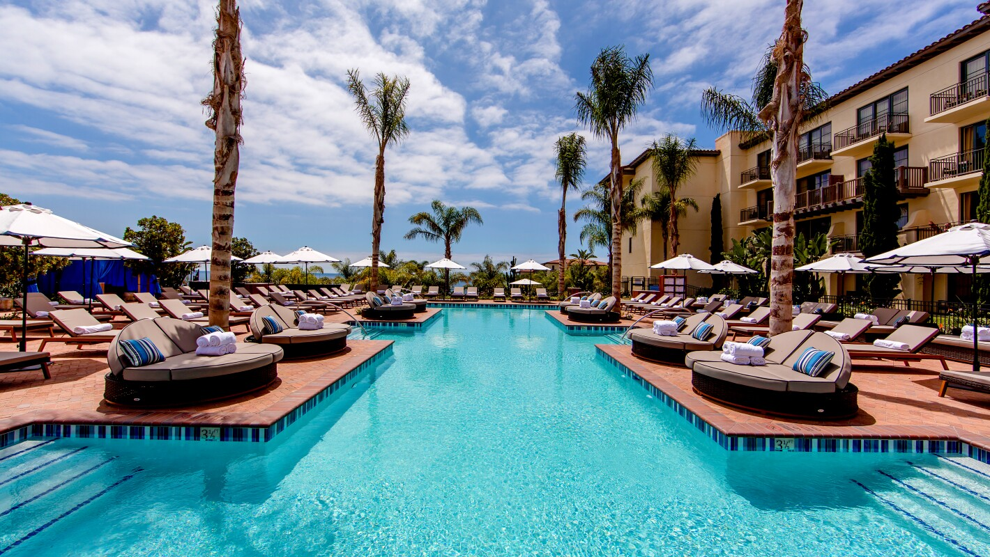 Beautiful California resort pool