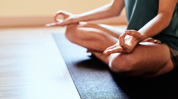 meditation hands on knees