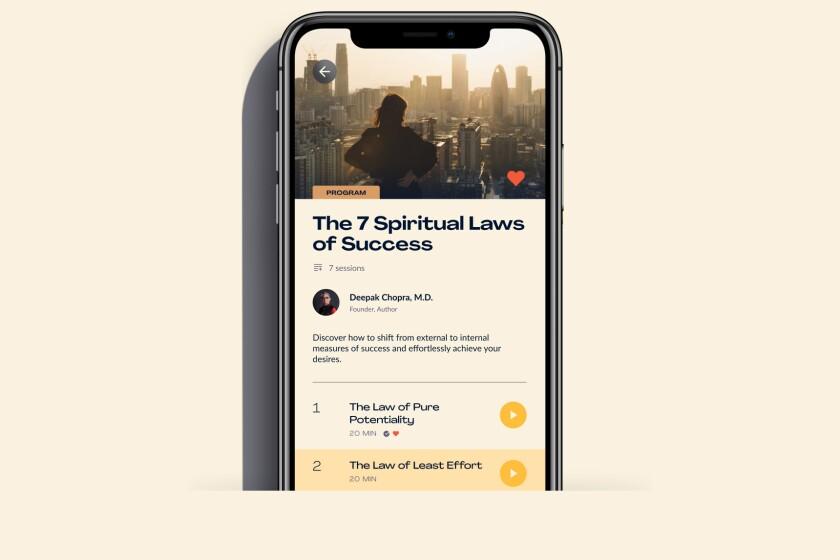 Program screen of the new Chopra app